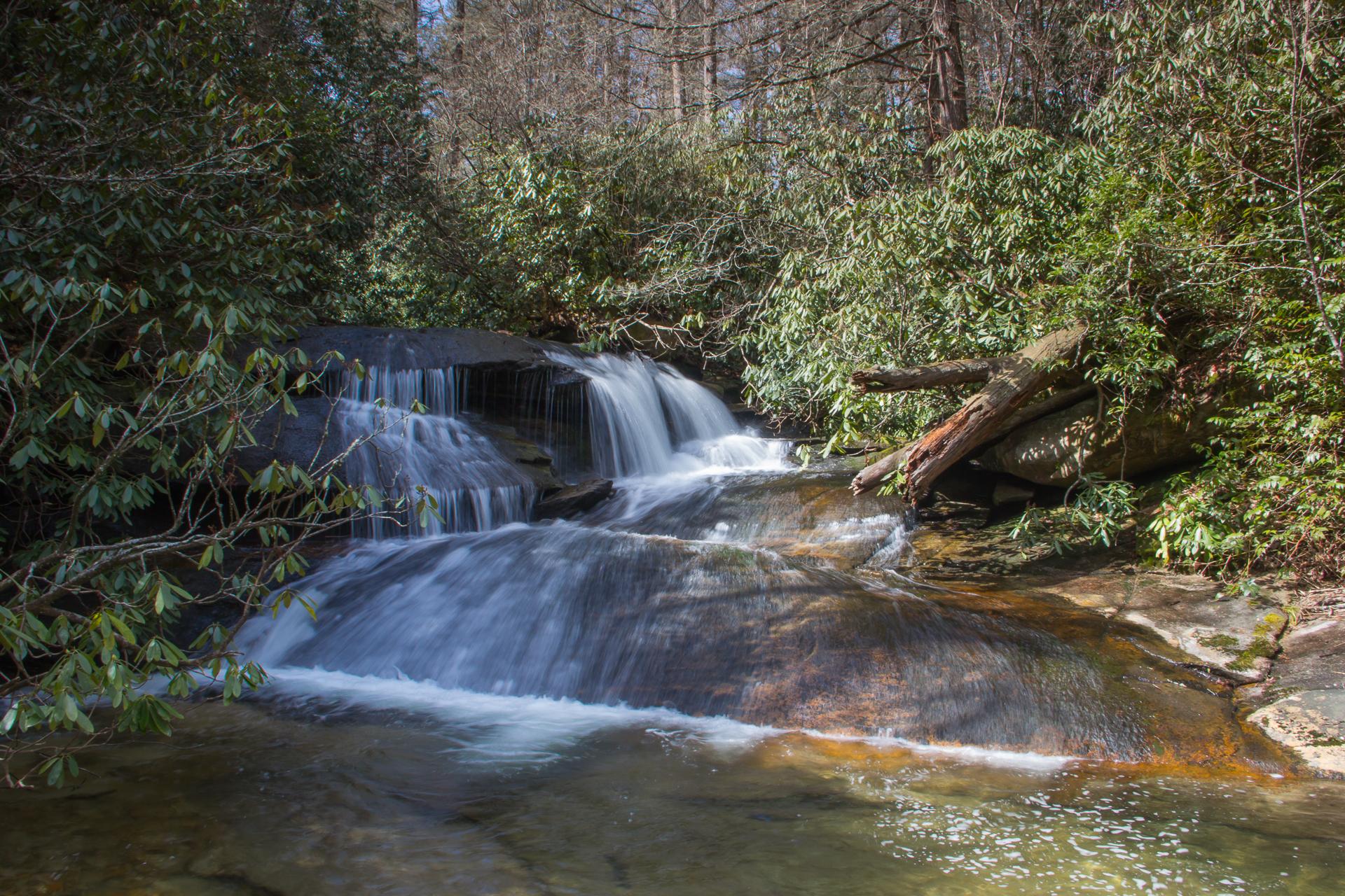 Meanderthals cat gap trail to cedar rock falls and long for Virginia fish hatchery