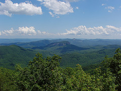 Looking Glass Rock From Pounding Mill Overlook