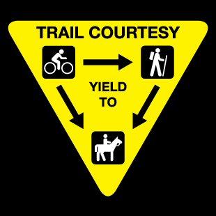 Trail Courtesy instructions