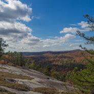 Corn Mill Shoals Trail, Little River Trail, Cedar Rock Trail, Big Rock Trail, DuPont State Forest, NC